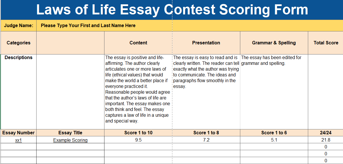 Laws Of Life Judges Scoring Picture Medical Literature Review Service also High School Vs College Essay  Best Writing Service Forum